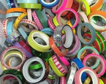 tape grab bag, Mini washi tape set, planner tape, tape grab bag, tape destash, Mini Decorative tape, kids tape, kawaii deco tape, patterned