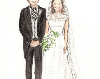 Personalized wedding illustration