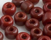 Vintage Venetian Seed Bead Opaque Brick Red  5/0  20 gram bag. b17-218(e)