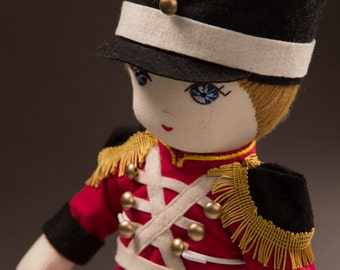 Axel The British Soldier - Handmade Cloth Doll