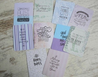 10 journaling cards quotes