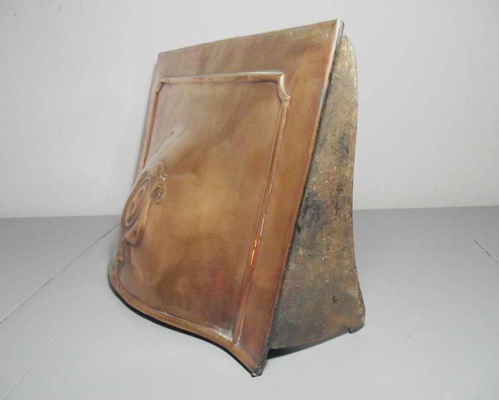 antique art nouveau copper fireplace canopy antique copper