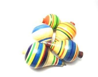 wood spin,  toy for children
