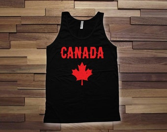 Canada Day Tank top - Canadian tank tops for women, men, kids tank top, canada day tank top, canadian flag, canadian clothes - CT-064