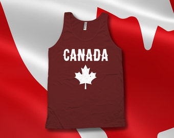 Canada Day Tank top - Canadian tank tops for women, men, kids tank top, canada day tank top, canadian flag, canadian clothes - CT-065