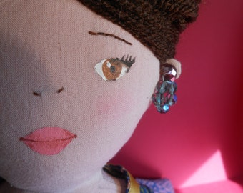 Catalina, French-style cloth doll