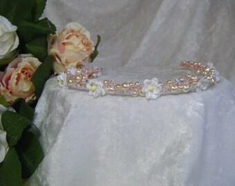 Wedding bridal headband, hairvine, hair vine, tiara, headpiece