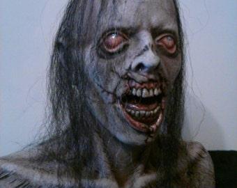 Walking Dead Style Zombie Dark Horror Haunt Prop Bust Collectible