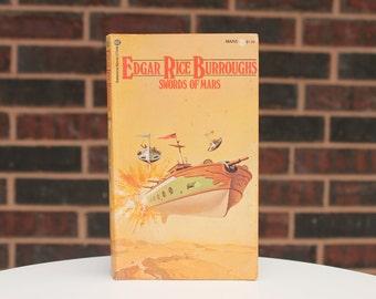 Swords Of Mars - Edgar Rice Burroughs - Barsoom Series - Vintage Paperback - John Carter - Ballantine Books - 1977 - 10th Printing Books
