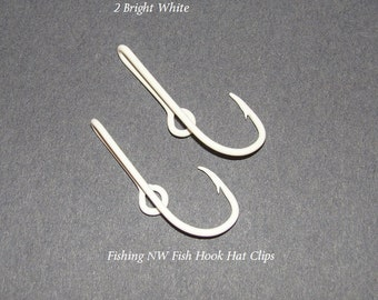 Fish hook hat pins etsy for Fishing hat pins