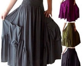 17% OFF SUMMER SALE Q455 Ruffle Pocket Skirt Dress Maxi Classy Charming Women Fashion Misses Plus Made To Order s m l xl 1x 2x 3x 4x 5x 6x C