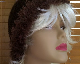 Ladies Winter Hat in Brown