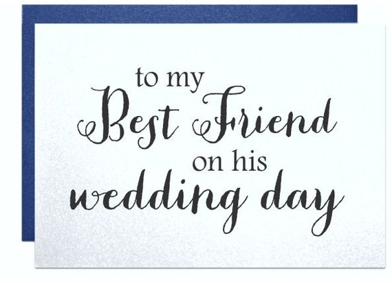 Wedding Day Card To My Guy Friend On His Go
