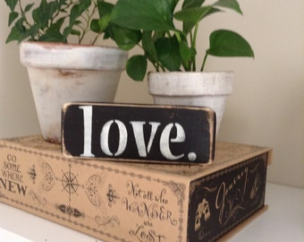 "Distressed Wooden ""LOVE"" Sign"