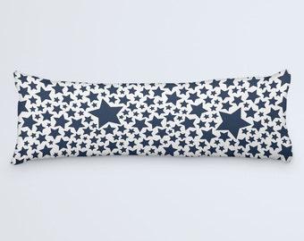 Blue Body Pillow Stars Long Pillow Pillow 20x54 Large Bed Pillow Large