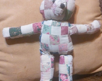 Quilted Teddy Bear..13 inches Tall