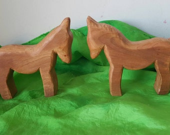 Wooden ponies, horses, wooden horses, waldorf inspired wooden toy,