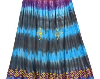 Hippie Tie Dye Burning Man Skirt