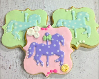 Carousel Horse Cookie Favors