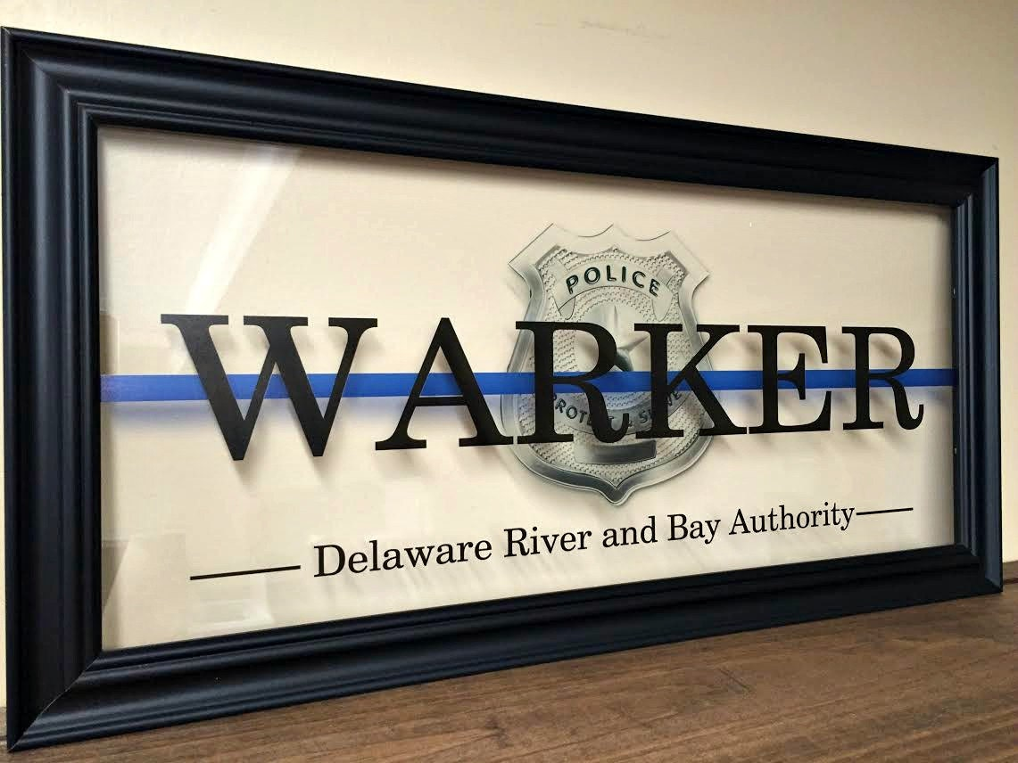 Police Officer Gifts Sign Thin Blue Line