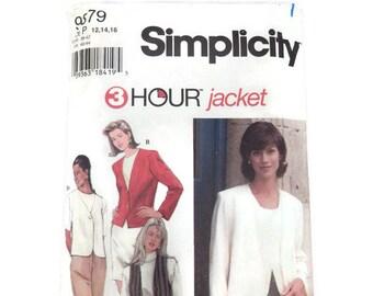 UNCUT Simplicity #9879 Sewing Pattern, 3 Hour Jacket, Size P 12, 14, 16