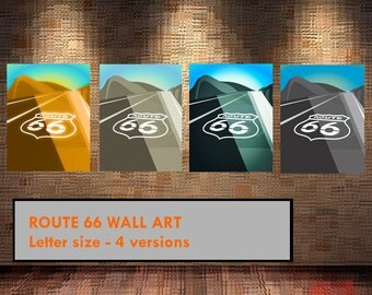 Route 66 Wall Art Poster