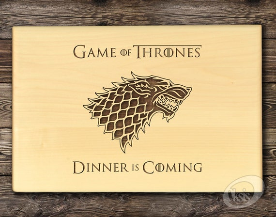 Game Of Thrones Cutting Board Dinner Is Coming Personalized