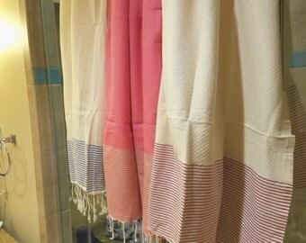 Tunisian Hand Woven 100% Natural Cotton Bath Towel,Scarf,Shawl