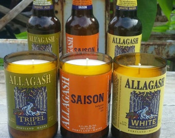 Allagash Craft Beer Gift Three Pack -  Soy Candles