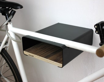 "Bikeshelf ""velo-stop"" black / walnut"