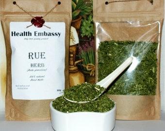 Rue Herb ( Ruta graveolens ) 50g - Health Embassy - Organic