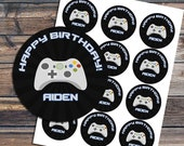 Video Game Cupcake topper - Video Game Birthday Party - Game Truck - Gamer - Boy -Digital - Video Game Favor Tag - Sticker - YOU PRINT - DIY