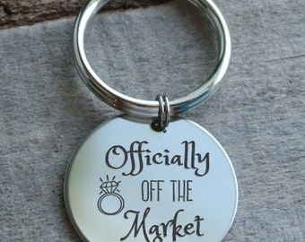 Officially Off the Market Personalized Key Chain - Engraved
