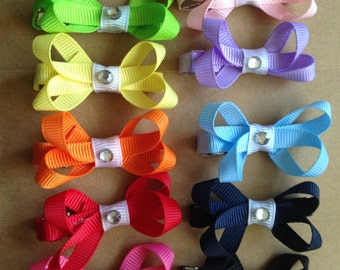 Baby bow clips set