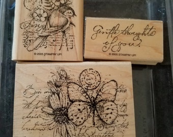 "Stampin Up ""Garden Collage"" Stamp Set/Retired"
