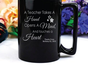 Personalised Teacher Quote Coffee Mug