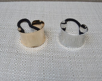Cuff Ponytail Holders Gold & Silver