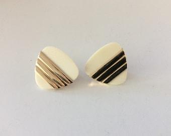 14 k gold modernist earrings