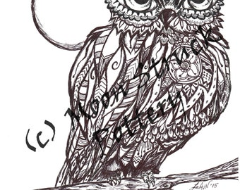 animal coloring page owl coloring page adult coloring page printable coloring sheet - Owl Coloring Page For Adults