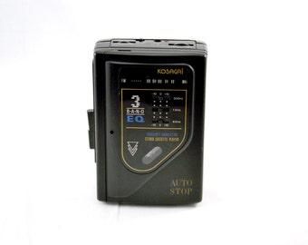 Vintage WALKMAN Stereo Cassette Player / radio fm station /  KOSAGAÏ  model SPR-75Q
