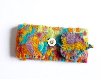 Handmade felt 'envelope' or phone sleeve