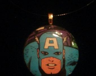Marvel Avengers Classic Captain America Pendant