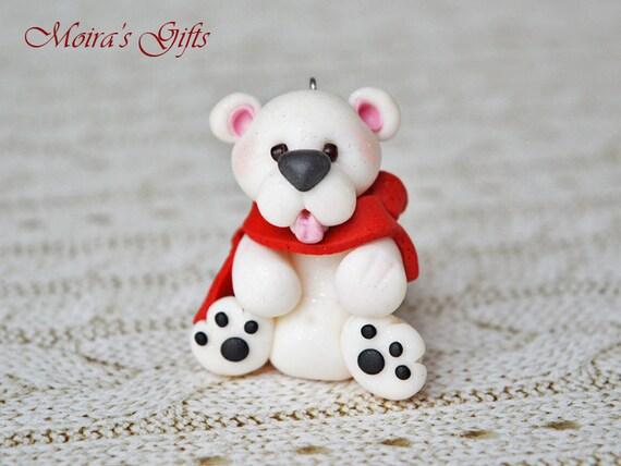 Polar bear Christmas figurine Christmas polar bear Cute