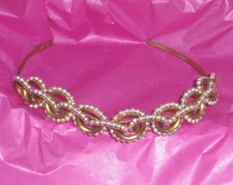 Tiara (106) - headband, pearls rings entwined, to 1950's