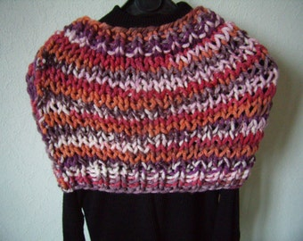 snood, scarf circular, multicolored shoulder, cowl, scarf, infinity, handmade