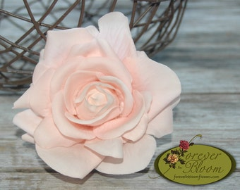 Real Touch Rose Hair Comb / Rose Flower Comb / Artificial Rose Comb / Blushl Flower Comb / Blush Rose Hair Comb / Wedding Hair Flower Comb