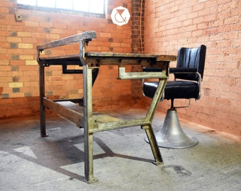 SOLD SOLD SOLD Vintage Negretti & Zambra Industrial Scientific Workbench - Table Shop Counter Kitchen Island Large Desk for Home or Business