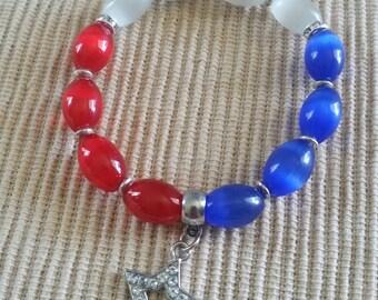 Patriotic Cat's Eye Bracelet