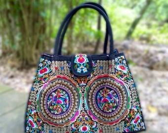 Hmong Embroidery Bag - Boho Tote Shoulder Bag  ( FREE SHIPPING WORLDWIDE )
