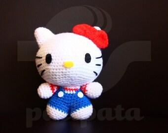 Hello Kitty - 15cm amigurumi